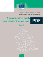 comparativeanalysisofnon-discriminationlawinEurope