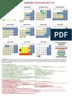 Calendario Escolar Comunidad de Madrid 2017-2018