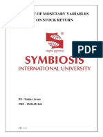 Impact of Monetary Variables on Stock Return (1) (Autosaved)111