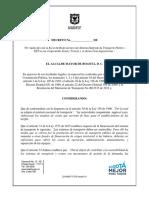 Proyecto de Decreto Tarifas Sitp 2018