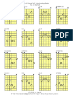 II V I V7/II in Cmajor voicings for Jazz Guitar