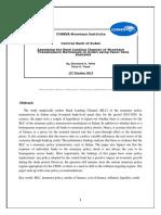 Assessing the Bank Lending Channel of Monetary Transmission Mechanism in Sudan using Panel Data Analysis (2010-2016)