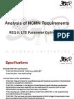 09 - SA5 Analysis of NGMN Requirement 9 - LTE Parameter Optimization