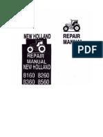 Ford New Holland 8160 8260 8360 8560 Repair Manual