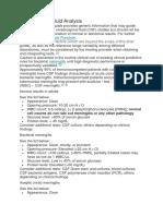 Cerebrospinal Fluid Analysis