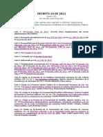 Decreto 19 de 2012