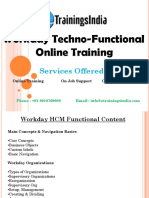 Workday Techno functional Online Training