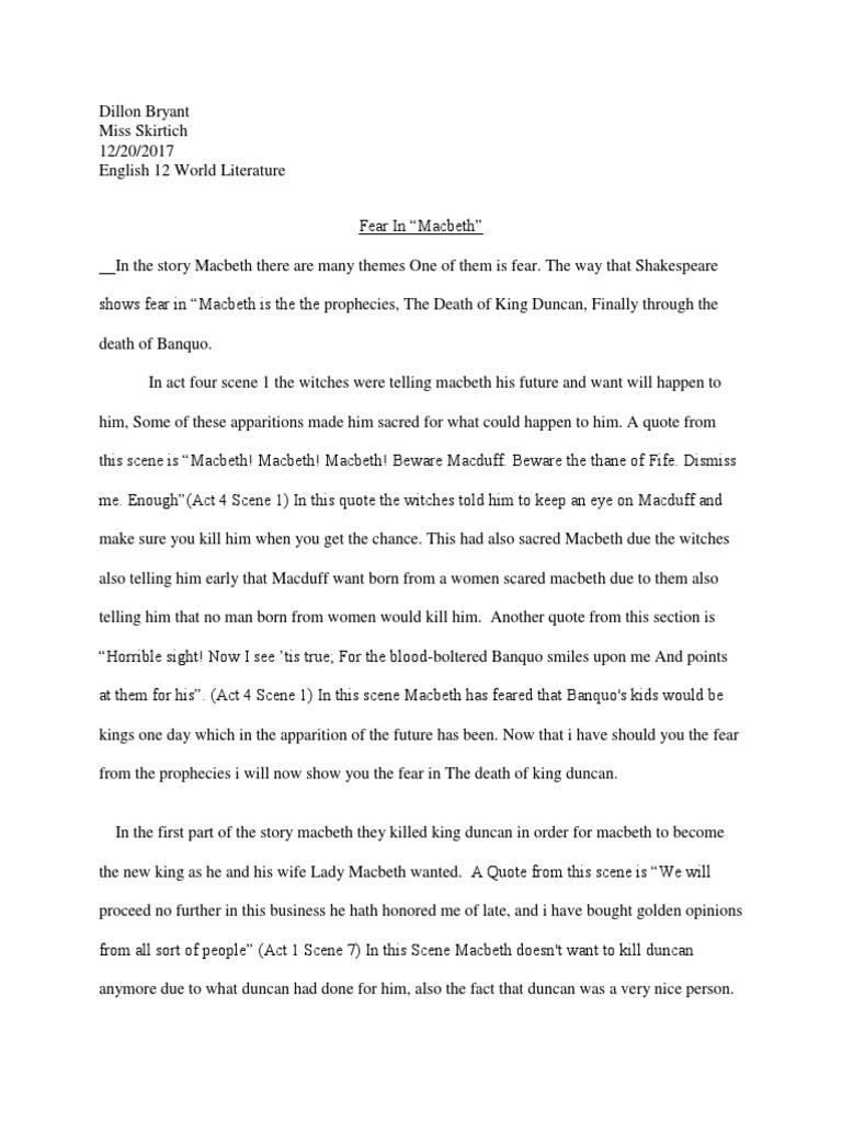 macbeth killing duncan quotes