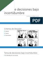 2. Criterios de Decision