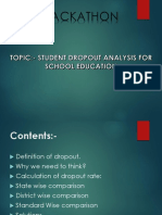 Student Dropout Analysis for School Education