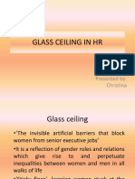 Glass Ceiling in Hr