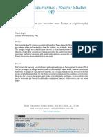 Ricoeur Et La Philosophie