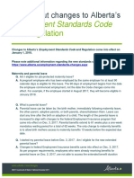 FAQ - Changes to the Employment Standards Code