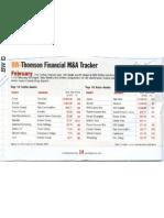 Thomson Financial M&a Tracker