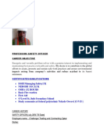 Micheal Odor Safety Officer Cv