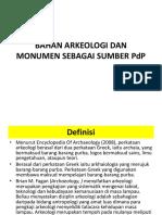 Bahan Arkeologi Dan Monumen Sebagai Sumber Pdp