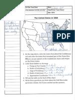Civil War Cheat Sheet Notes