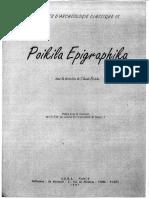 Linscription de Stobi Poikila Epigraph