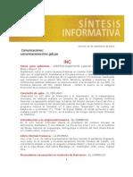 INC. Notas de Prensa