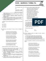 Barroco - Lista de Testes