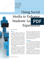 Using Social Media to Enhance Students Learning Experiences