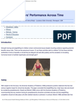 Young Weightlifters Performance Across Time