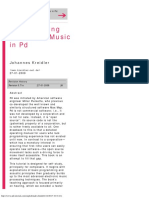 Programming Electronic Music in Pd