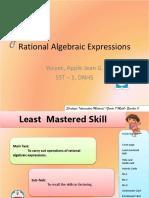 Rational Algebraic Expressions