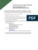 Ale Researcher Developed Assessment Instruments Application Form
