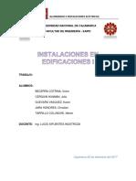 Informe de Seguimiento a Construccion en Proceso de Instalaciones Electricas