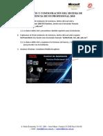 II. Instalacion y Configuracion Asistencia Profesional 2010