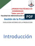 Evolucion Historica de La Produccion q1 q2 q3