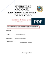 Analisis Tipo Dde Mineral
