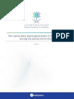 Per Capita Daily Waste Generation in Saudi Arabia During the Period 2010-2016 En