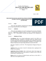 Implementing Rules and Regulations Governing Accreditation of Drug Testing Laboratories in the Philipines