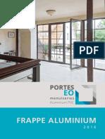 Catalogue Frappe Aluminium