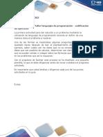 Formato Etapa 4 -Taller Lenguajes de Programación - Codificación de Ejercicios_Claudia_Cifuentess