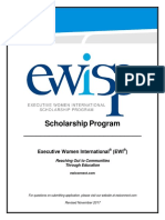 2018 EWISP Scholarship Form