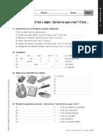 fiche005Le présentatif C'est + objet  Qu'est-ce que c'est  C'est….pdf