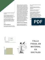Falla Fragil en Materiales Ductiles