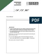 Sirona C3+ Dental Unit - Service manual