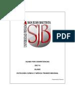Silabo de Patología Clínica y Transfusional 2017-II UPSJB