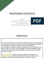 TRASTORNO PSICOTICO