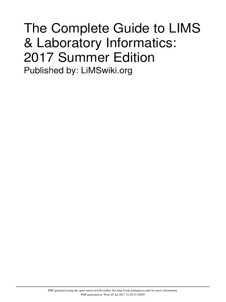 The complete guide to lims laboratory informatics 2017 summer the complete guide to lims laboratory informatics 2017 summer edition laboratories information fandeluxe Images