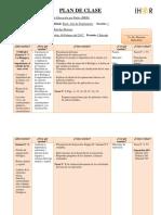 Plan de Clase Biology I 10th