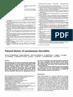 natural history of autoimmune thyroiditis
