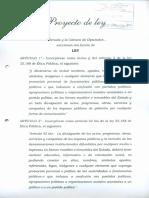 Proyecto de Ley - Prohibición de Utilización de Nombres de Funcionarios en Bienes Públicos