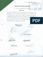 Proyecto de Declaración - Ofrecimiento Test de VIH