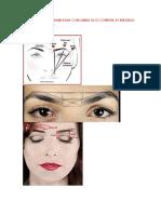 Marcação Da Sobrancelha Com Linha Ai Só Confere as Medidas Com Dermografo