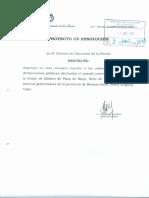 Proyecto de Resolución - Repudio Amenazas a María Eugenia Vidal